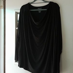 NWT Lord & Taylor drape neck top